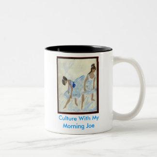 ballet de bleu, culture avec mon matin Joe Mug Bicolore