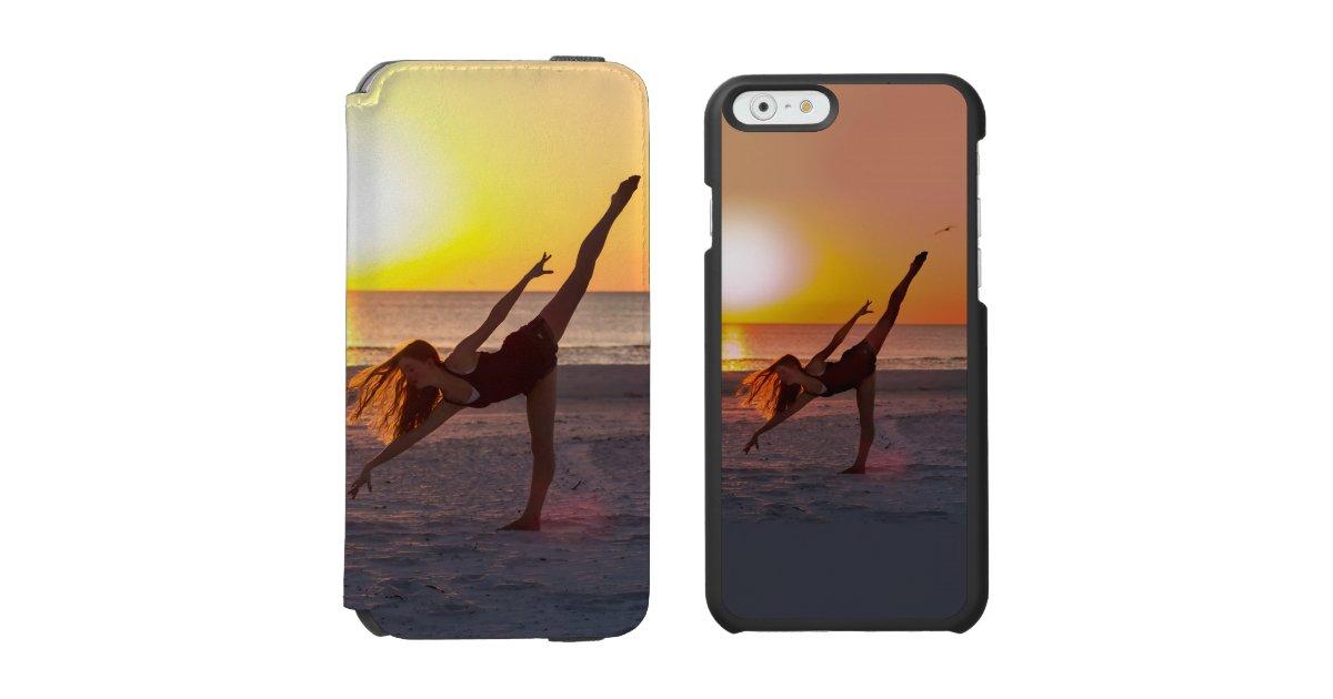 Ballet de coucher du soleil sur la plage coque for Coque iphone 6 portefeuille