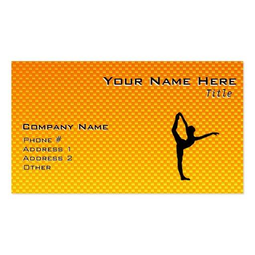 Ballet jaune-orange modèle de carte de visite