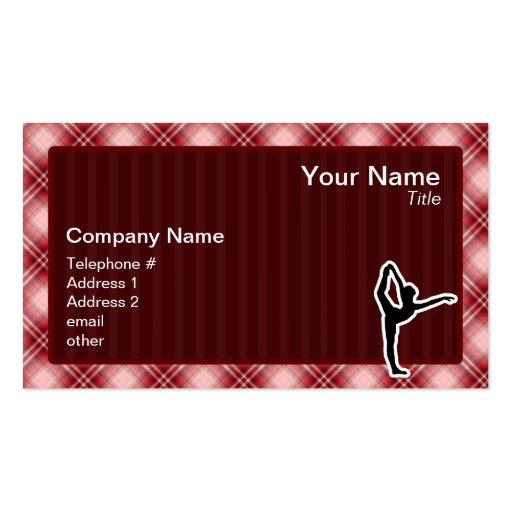 Ballet rouge de plaid cartes de visite professionnelles