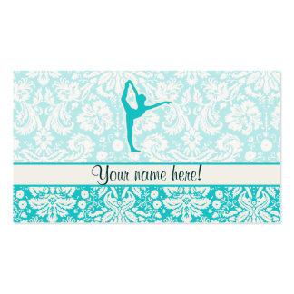 Ballet turquoise carte de visite standard