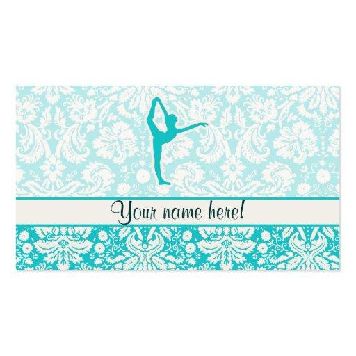 Ballet turquoise carte de visite