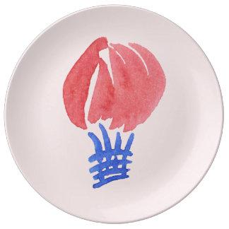 """Ballon à air 10,75"""" plat décoratif de porcelaine assiettes en porcelaine"""