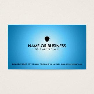 ballon à air chaud de lueur bleue cartes de visite