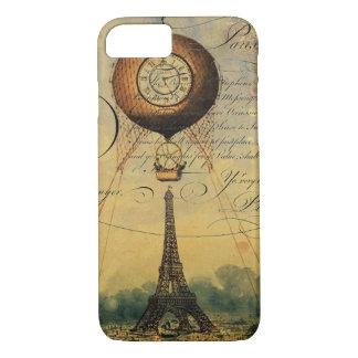 Ballon à air chaud de Tour Eiffel Steampunk Coque iPhone 7