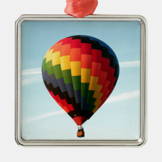 Ballon à air chaud en haut ornement carré argenté