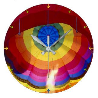 Ballon à air chaud grande horloge ronde