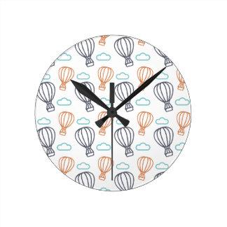 Ballon à air chaud horloge ronde