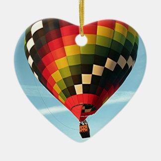 Ballon à air chaud, Orlando, la Floride, Ornement Cœur En Céramique