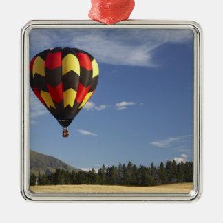 Ballon à air chaud près de Wanaka, île du sud, Ornement Carré Argenté