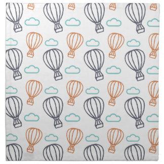 Ballon à air chaud serviettes de table