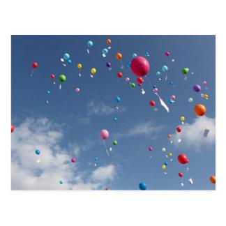 Ballon aérien carte postale