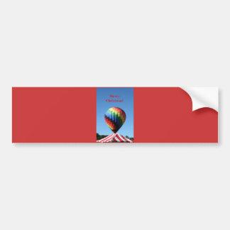 Ballon avec la rayure de sucre de canne, Joyeux No Autocollant Pour Voiture