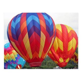 Ballon brillamment coloré cartes postales