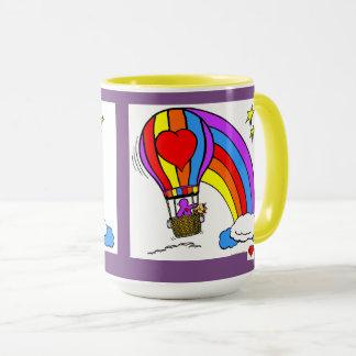 Ballon d'art de coeur tasses