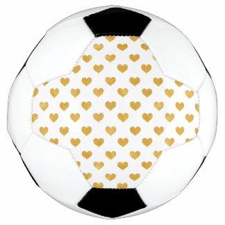 Ballon De Foot Blanc de l'amour 2018 - coeur d'or