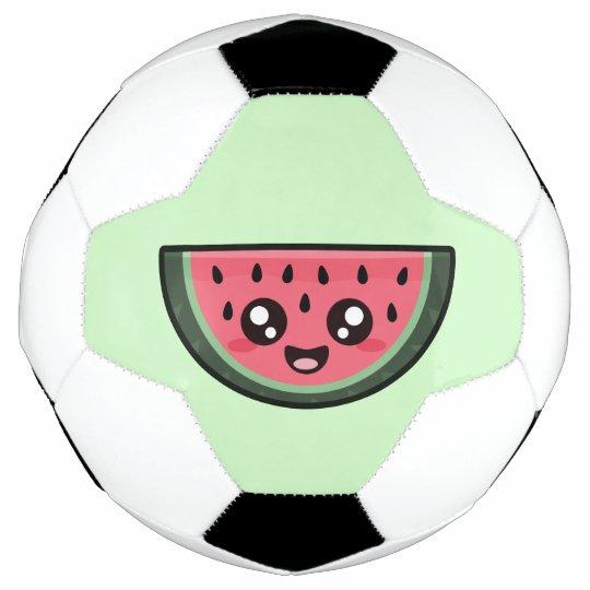Ballon De Foot Pastèque De Kawaii