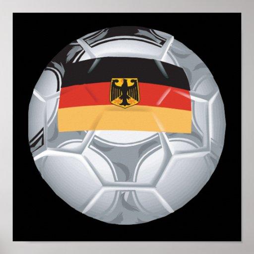 Ballon de football allemand affiches