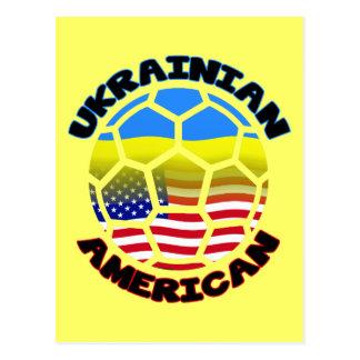 Ballon de football américain ukrainien carte postale