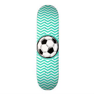 Ballon de football Aqua Chevron vert Skateboards Personnalisables