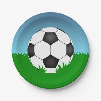 Ballon de football assiettes en papier