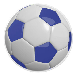 Ballon de football bleu-foncé et blanc