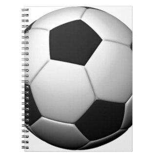 Ballon de football carnets à spirale