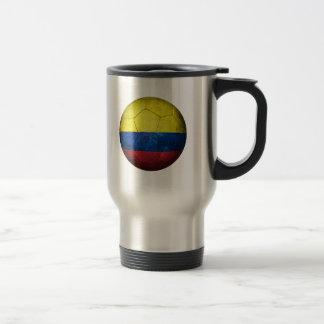 Ballon de football colombien usé du football de mug de voyage
