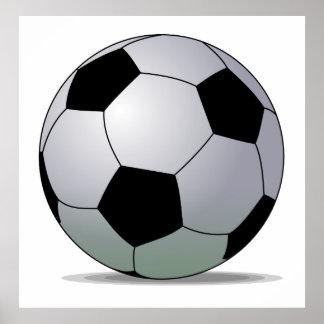 Ballon de football d'Américain du football d'assoc Poster