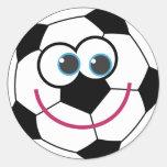 Ballon de football de bande dessinée sticker rond