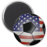 Ballon de football de drapeau des USA Aimant Pour Réfrigérateur