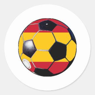 Ballon de football Drapeau-Espagne les cadeaux Sticker Rond
