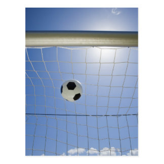 Ballon de football et but 2 carte postale