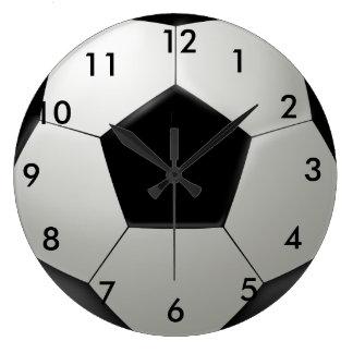 Ballon de football grande horloge ronde