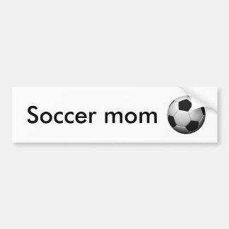 ballon de football, maman du football autocollant de voiture