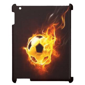 Ballon de football mis à feu coque iPad