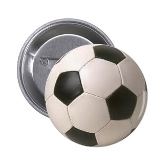 Ballon de football noir et blanc badges