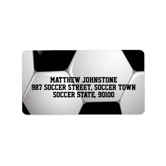Ballon de football personnalisable du football étiquette d'adresse