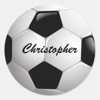 Ballon de football personnalisable du football sticker rond
