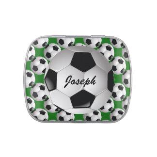Ballon de football personnalisé sur le motif du boite de bonbons jelly belly