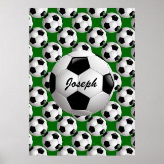 Ballon de football personnalisé sur le motif du poster