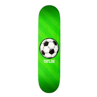 Ballon de football ; Rayures vertes au néon Skateboards Personnalisés