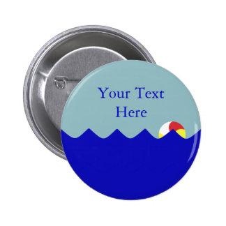 Ballon de plage de piscine (personnalisable) badge