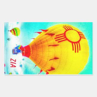 Ballon de Zia Sticker Rectangulaire