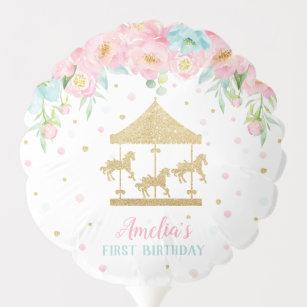 Ballon Gonflable Fête d'anniversaire florale de carrousel de menth