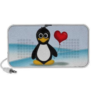 Ballon mignon de coeur de pingouin - haut-parleur