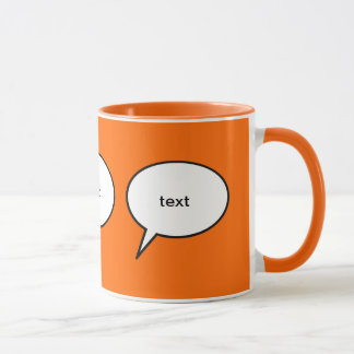 ballon personnalisable de la parole de bande mugs