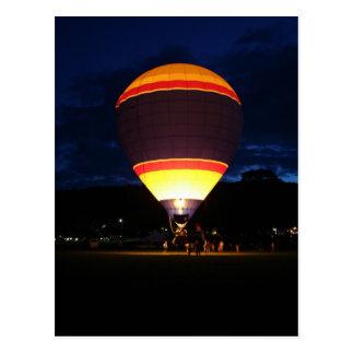 Ballon rougeoyant, UFO Carte Postale