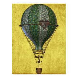 Ballon victorien de Steampunk Cartes Postales