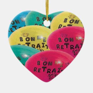 BALLONS BONNE RETRAITE.png Ornement Cœur En Céramique